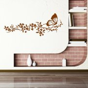 Flying Butterfly Flower Wall Sticker