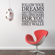 Follow Your Dreams Wall Sticker Quote