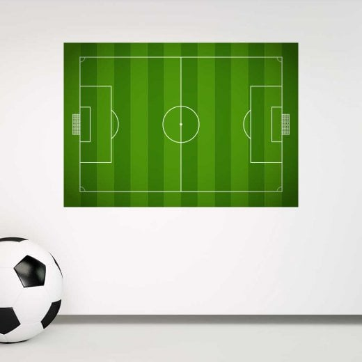Football Pitch Printed Wall Sticker