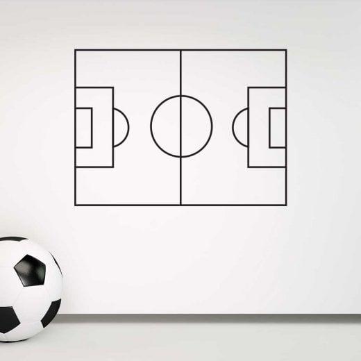 Football Pitch Tactics Board Wall Sticker