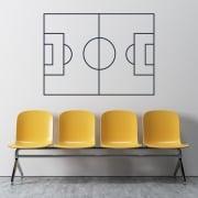 Football Pitch Tatics Board Wall Sticker