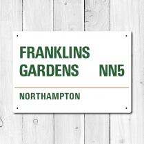 Franklins Gardens, Northampton Metal Sign