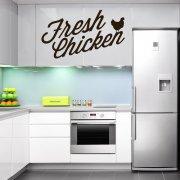 Fresh Chicken Wall Sticker Quote