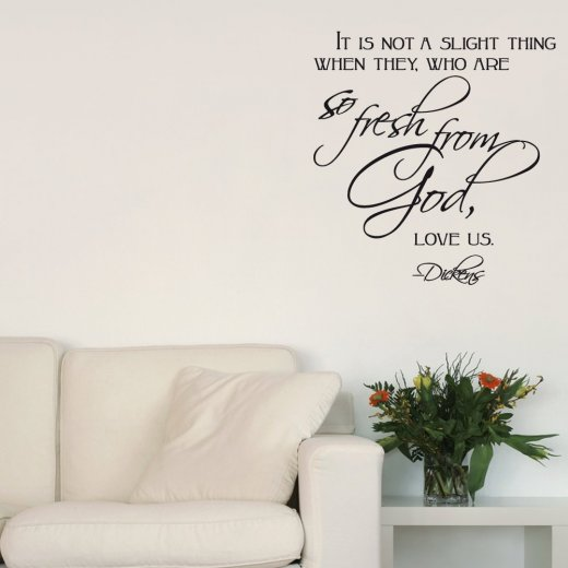 Fresh From God Wall Sticker Quote