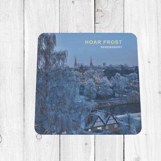 Frosty Shrewsbury Coaster