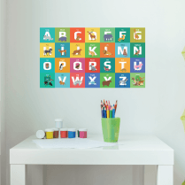 Fun Animal Alphabet Wall Sticker