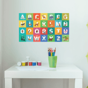 Fun Animal Alphabet Wall Sticker