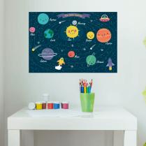 Fun Solar System Wall Sticker