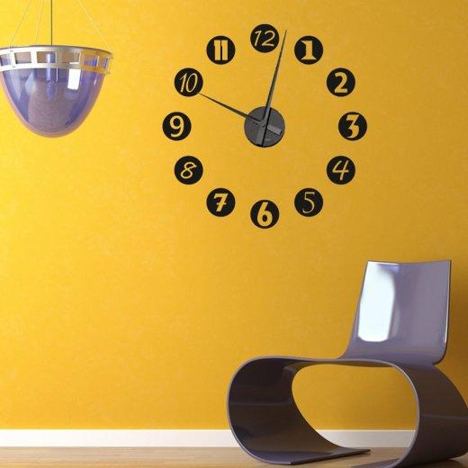 funky numbers wall sticker clock wall chimp