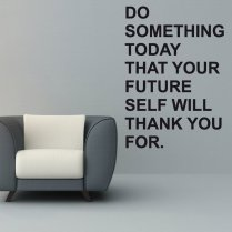 Future Motivation Wall Sticker Quote