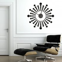 Futuristic Wall Sticker Clock