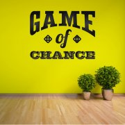 Game Of Chance Wall Sticker