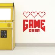 Game Over Wall Sticker