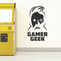 Gamer Geek Wall Sticker