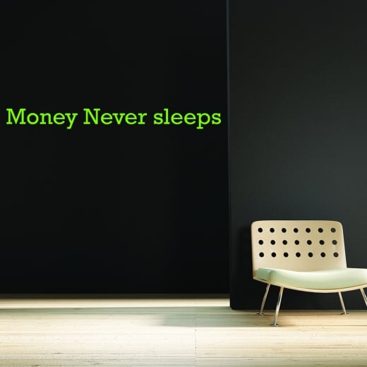 Gareth Lautenberg Money Never Sleeps Wall Sticker WC468QT
