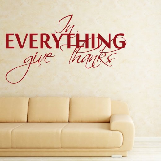 Give Thanks Wall Sticker Quote