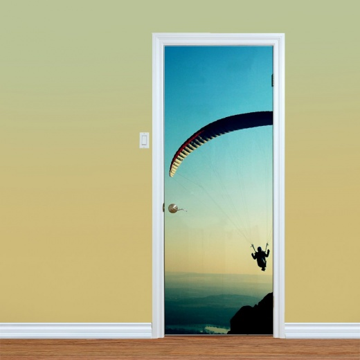 Glider Skydiver Printed UV Door Art