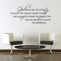 God Grant Me Serenity Wall Sticker Quote