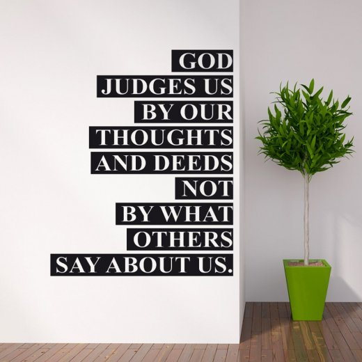God Judges Us Wall Sticker Quote