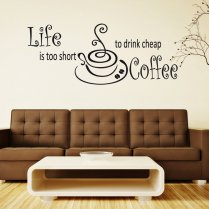 Good Coffee Wall Sticker Quote