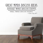 Great Minds Discuss Ideas Wall Sticker Quote