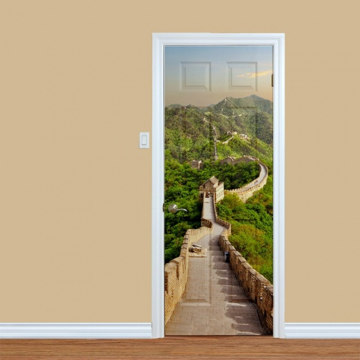 Great Wall Of China Door Print