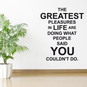 Greatness Wall Sticker Quote