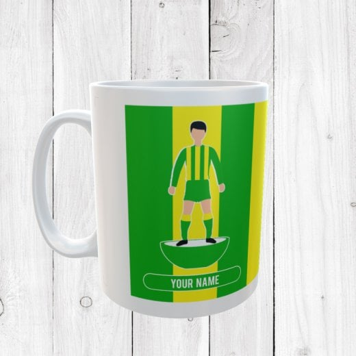 Green & Yellow Football Mug