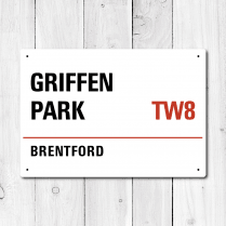 Griffen Park, Brentford Metal Sign