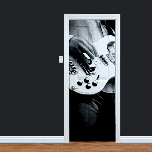 Guitar Player Musical Printed Door