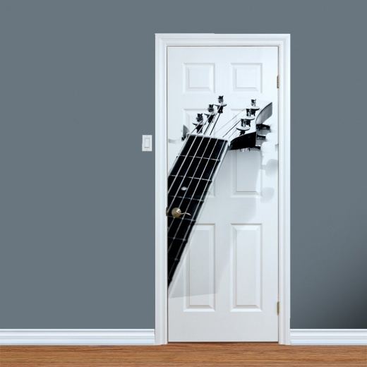 Guitar Strings Printed Door Art