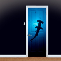 Hammerhead Shark UV Printed Door