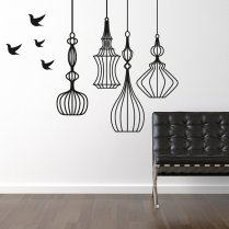 Hanging Birdcage Wall Sticker