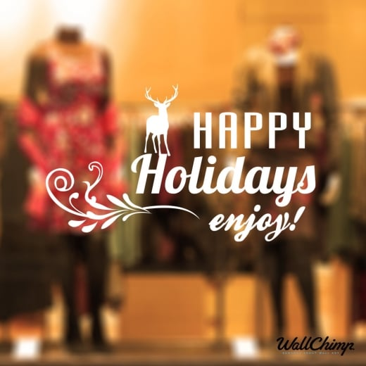 Happy Holidays Wall & Window Sticker