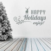 Happy Holidays Wall & Window Sticker
