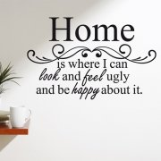 Happy Home Wall Sticker Quote