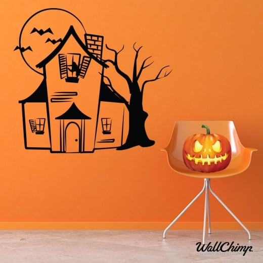 Haunted House Wall & Window Sticker