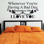 Having A Bad Day Wall Sticker Quote