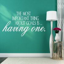 Having A Goal Wall Sticker Quote