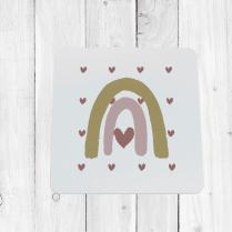Heart Rainbow Coaster