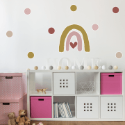 Heart Rainbow & Rouge Polka Dot Sticker Pack