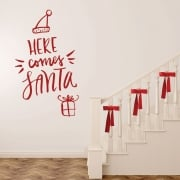 Here Comes Santa Wall & Window Sticker