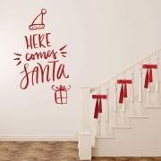 Here Comes Santa Wall & Window Sticker