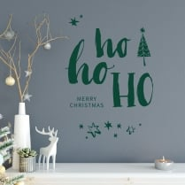 HO HO HO Wall & Window Sticker