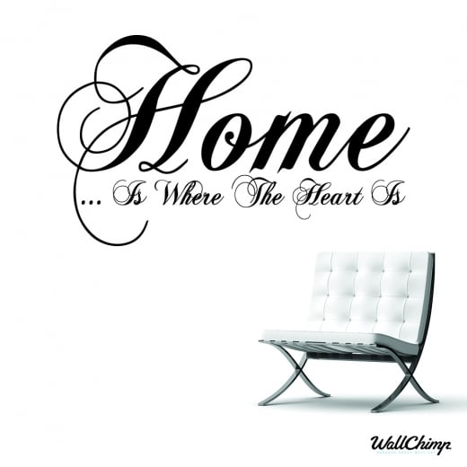 Home Heart Wall Sticker Quote