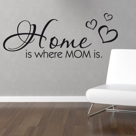Home Is Where Mom Is Wall Sticker Quote