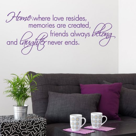 Home Laughter Wall Sticker Quote