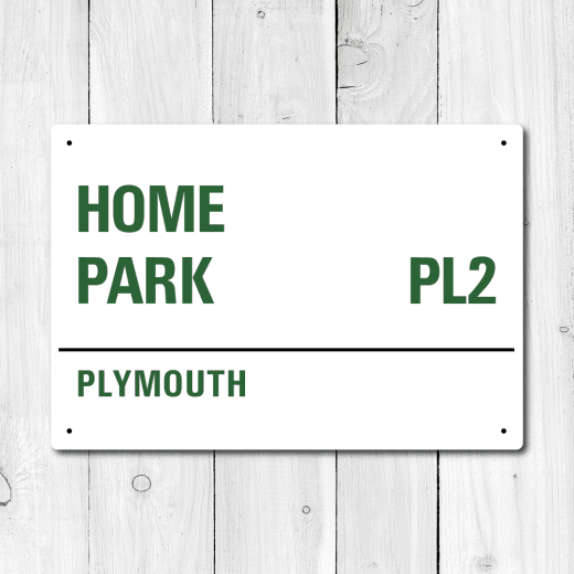 Home Park, Plymouth Metal Sign