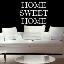 Home Sweet Home Times Wall Sticker Quote