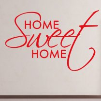 Home Sweet Home Wall Sticker Quote